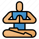 exercise, meditation, poses, yoga icon