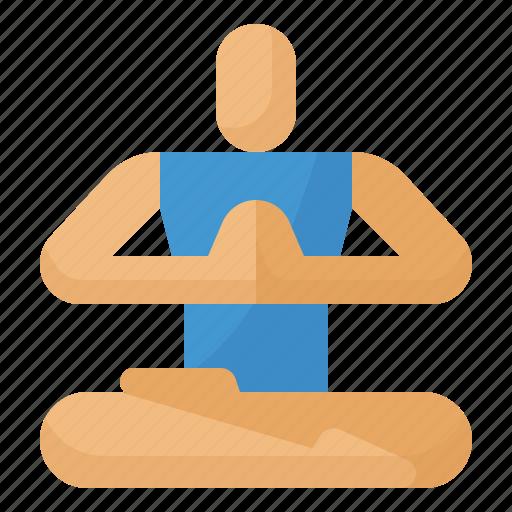 exercise, meditation, poses, yoga icon