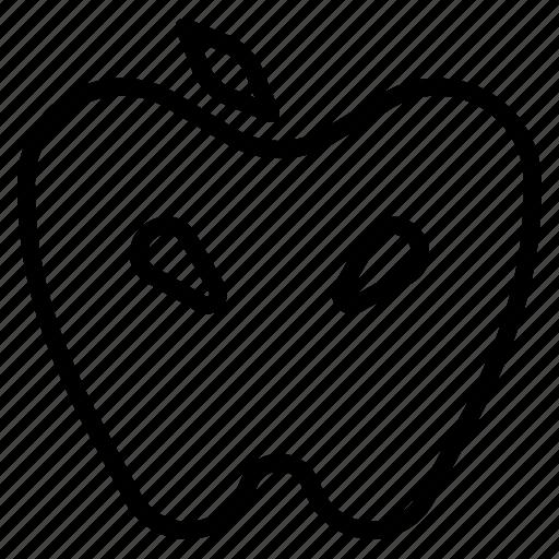 apple, fruit, healthy, vegan, vegetarian icon