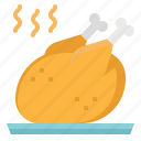 chicken, drumstick0a, food, turkey icon