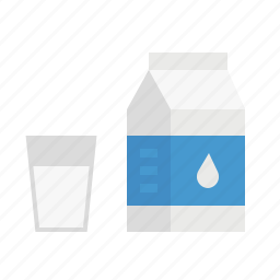 breakfast, drink, food, healthy, milk icon