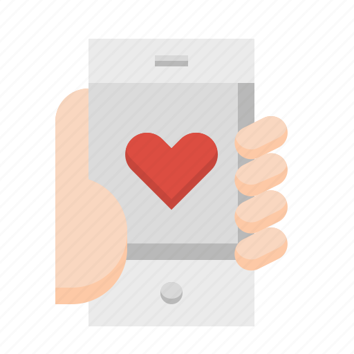 app, heart, love, mobile, phone, smartphone icon