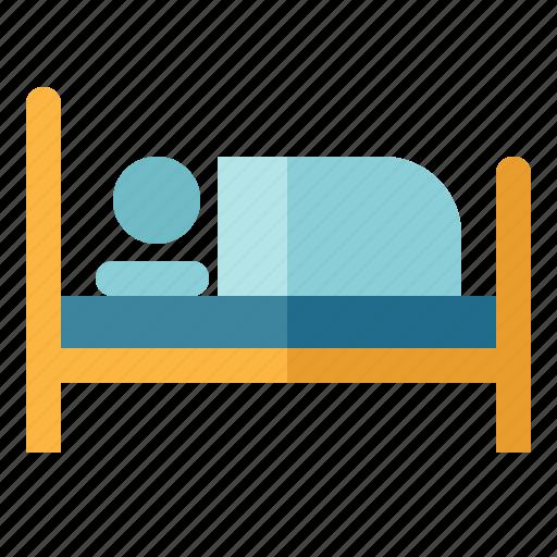 bed, hostel, hotel, sleep, sleeping icon