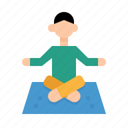 exercise, meditation, poses, relaxing, wellness, yoga icon