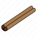 cinnamon, cooking, food, healthy, oriental, spice, stick icon