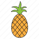 ananas, food, friut, fruit, healthy, pineapple, tropic icon
