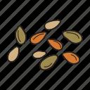 diet, flax seed, food, healthy, sesame, vegan, vegetable
