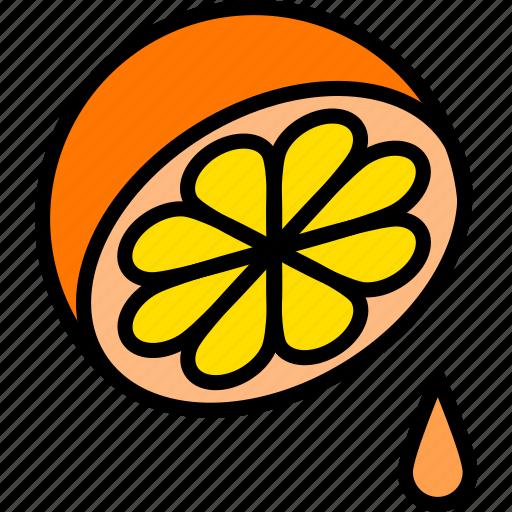 food, fruit, juice, orange icon