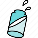bottle, milk, water icon