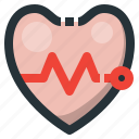 beat, graph, heart, heartbeat, love, pulse icon