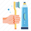 brush, dental health, healthy life, hygiene, teeth, tooth, toothbrush icon