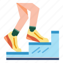 healthy life, workout, walking, training, jogging, casual exercise icon