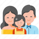 bonding, child, family care, father, mother, parents, togetherness icon