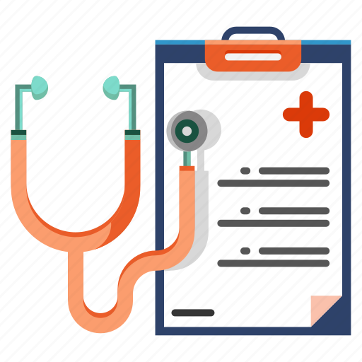 checkup, diagnosis, healthcare, medical, report, stethoscope icon