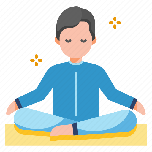 Healthy Life Meditation Peace Pose Relaxation Spirituality Yoga Icon