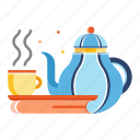 afternoon, healthy life, organic, relax, tea, tea pot, time icon