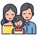father, parents, mother, child, family care, togetherness, bonding icon