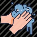 hands, healthy life, hygiene, hygienic, sanitary, wash hand, washing icon