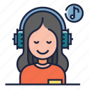 cure, headphones, healthy life, listening, music, relaxation, therapy
