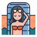 beach, holiday, relax, take vacation, therapy, travel, vacation icon
