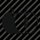 apple, food, fruit, half, healthy, juicy, vegetarian icon