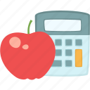 apple, calorie calculator, healthy, nutrition icon