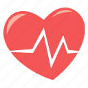 cardiogram, healthcare, heart rate, pulse icon