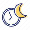 enough sleep, moon, night, sleeping icon
