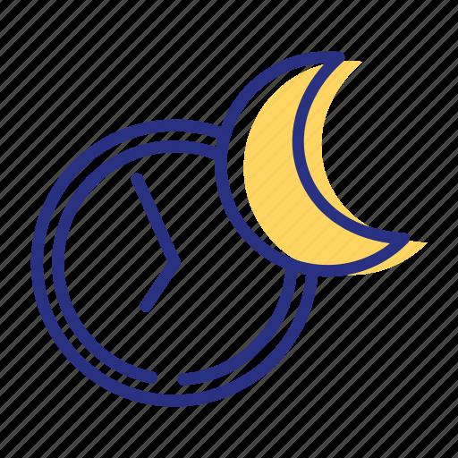 enough sleep, moon, night, sleeping icon