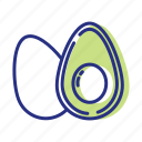 avocado, healthy eating, healthy food, nutrients icon