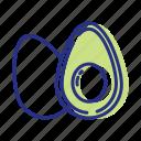avocado, healthy eating, healthy food, nutrients icon