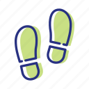 footprints, sport, walk daily, walking icon