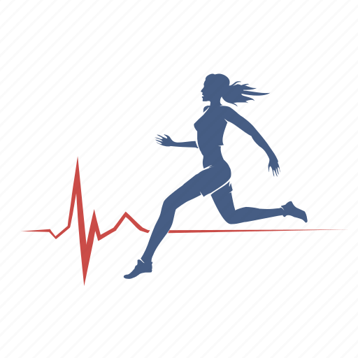 cardio, healthy, life, run, woman icon