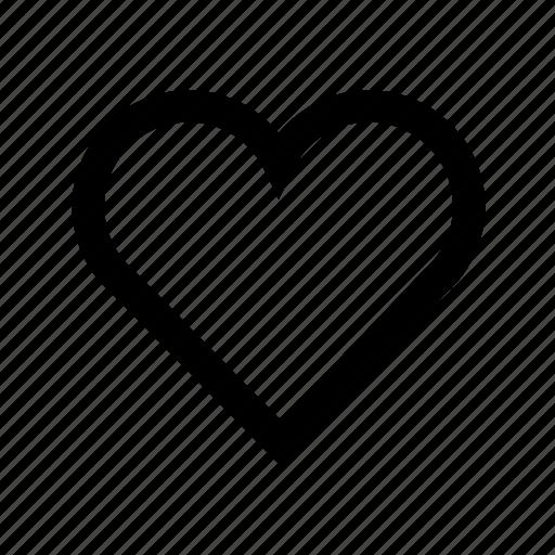 heart, love, romance, tag icon