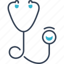 attack, doctor, heart, stethoscope icon