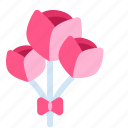 flower, flowers, heart, love, valentine, valentine's, valentine's day icon