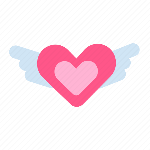 Heart, heart wings, love, valentine, valentine's, valentine's day, wings icon - Download on Iconfinder