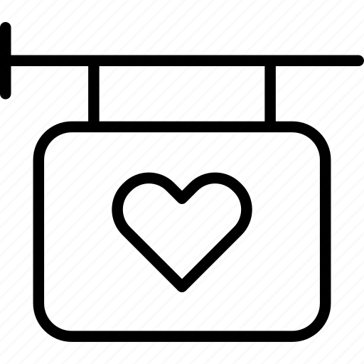 heart, love, retail, shop, sign, street, valentine icon