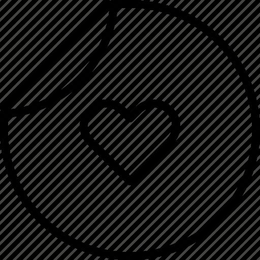 brand, favorite, heart, love, passion, sticker icon