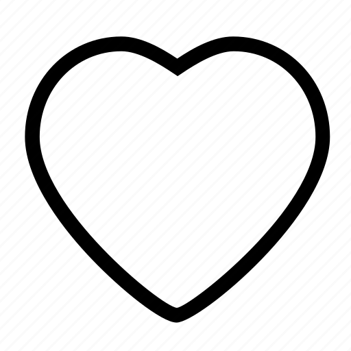 full, heart, like, love, romance, valentine icon