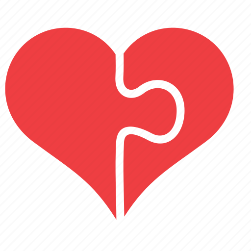 heart, jigsaw, love, pice, puzzle, romance icon