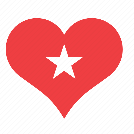 heart, love, romance, star icon