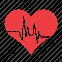 beat, heart, heartbeat, love, romance icon