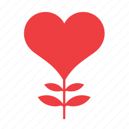 flower, heart, love, plant, romance icon