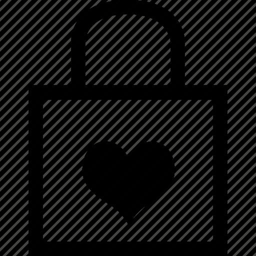 heart, lock, love, valentine day icon