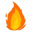 cartoon, d406, fire, flame, hot, igniting, orange icon