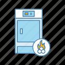 boiler, fuel, heating boiler, solid, water heater, water heating, wood icon