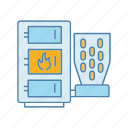 boiler, fuel, heater, pellet, pellet boiler, water heater, water heating icon
