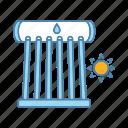boiler, energy, heating, solar, solar boiler, water heater, water heating icon
