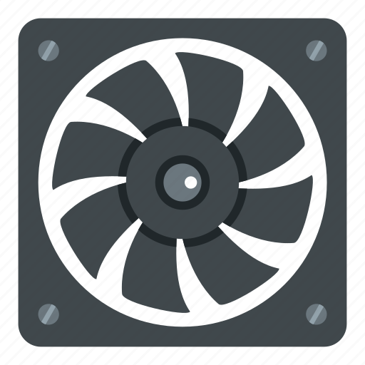 air, computer, cooler, electric, fan, part, technology icon